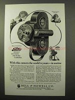 1927 Bell & Howell Filmo Movie Camera and Projector Ad