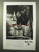 1941 Agfa Film Ad - The Church and Courthouse