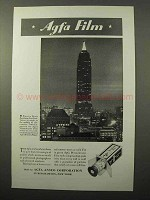 1935 Agfa Film Ad - Empire State Building, New York