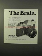 1973 Yashica TL-Electro Camera Ad - The Brain