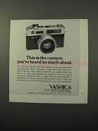 1973 Yashica Electro-35 Camera Ad - Heard So Much