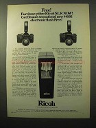 1971 Ricoh Singlex & TLS 401 Camera Ad - Braun Flash