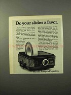 1970 Minolta Autopak Projector Advertisement - Do Slides a Favor