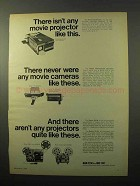 1969 Bolex Multimatic Projector, 155 & 7.5 Camera Ad