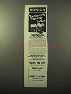 1969 Konica Autoreflex-T Camera Ad - Tomorrow's Camera