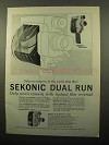 1963 Sekonic Dual Run and 53-EE Movie Cameras Ad