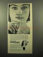 1963 Exakta Carena Zoomex Movie Camera Ad