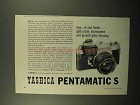 1962 Yashica Pentamatic S Camera Ad - In One Finder