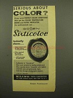 1962 Gossen Sixticolor Meter Ad - Serious About Color?