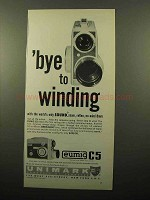 1961 Eumig C5 Movie Camera Ad - Bye to Winding