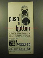 1961 Eumig C5 Movie Camera Ad - Push a Button