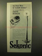 1961 Sekonic Microlite Meter Ad - Available Darkness