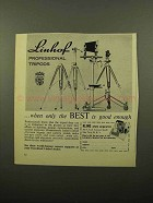 1961 Linhof Professional Tripods Ad - Only the Best