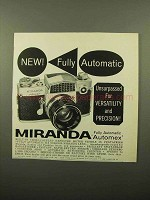 1961 Miranda Automex Camera Ad - Fully Automatic