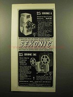 1960 Sekonic 8 Movie Camera and 30C Projector Ad