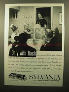 1960 Sylvania Blue Dot Flash Bulbs Ad - Only With Flash
