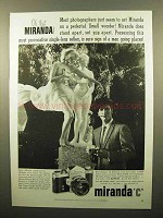 1960 Miranda C Camera Ad - Oh That Miranda!