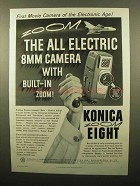 1960 Konica Zoom 8 Movie Camera Ad - Electronic Age
