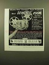 1960 Sekonic Model 80P Zoom 8mm Movie Projector Ad