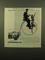 1960 Miranda D Camera Ad - For Sheer Dollar Value