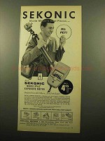 1959 Sekonic Movie Pet Exposure Meter Ad - Best Friend