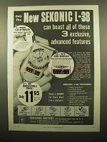 1959 Sekonic L-38 Exposure Meter Ad - Advanced Features