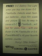 1959 General Electric M2 and #5 Flashbulbs Ad