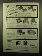 1959 Ansco Ad - Film; Cameras, Dualet Projector