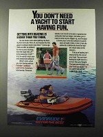 1986 Evinrude Outboard Motor Ad - Don't Need Yacht