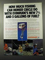 1980 Evinrude 7.5 Outboard Motor Ad - Fishing
