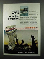 1977 Evinrude 55 Outboard Motor Ad - More Fish