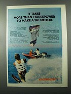 1976 Evinrude 55-S Outboard Motor Ad - Horsepower