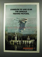 1976 Evinrude 9.9, 15 Outboard Motor Ad - Serious
