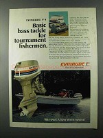 1976 Evinrude 85 Outboard Motor Ad - Bass Tackle