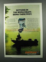 1975 Evinrude Sport 135 Outboard Motor Ad - First