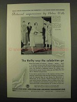 1931 IMM Cruise Ad - Pictorial Impressions, Helen Wills