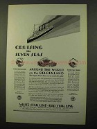 1927 IMM Cruise Ad - the Seven Seas