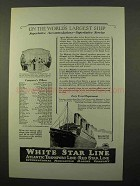 1926 IMM Majestic Cruise Ad - World's Largest Ship