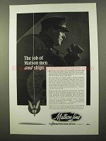 1942 Matson Lines Cruise Ad - The Job Of Men and Ships