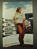 1940 Matson Cruise Ad - Crossroads of Content Hawaii