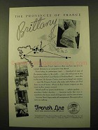 1936 French Line Cruise Ad - Provinces France Brittany