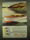 1945 Chris-Craft Double Stateroom Enclosed Cruiser Ad