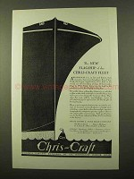 1929 Chris-Craft 48-Foot Boat Ad - The New Flagship