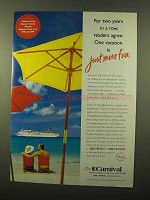2000 Carnival Cruise Ad - Just More Fun