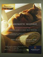 1999 Norwegian Cruise Line Ad - An Aromatic Massage