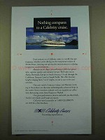 1997 Celebrity Cruises Ad - Nothing Compares To