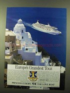 1991 Princess Cruise Ad - Europe's Grandest Tour
