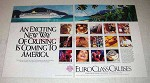 1991 EuroClass Cruises Ad - Exciting New Way