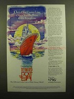 1991 The Big Red Boat Cruise Line Ad - Keys to Kingdom
