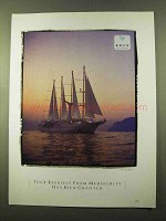 1990 Windstar Sail Cruises Ad, Reprieve From Mediocrity